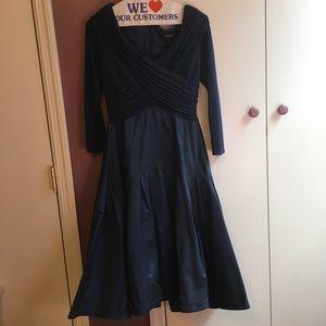 Tadashi Short Satin Gown